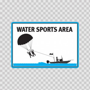 Water Sports Area Sign 08174