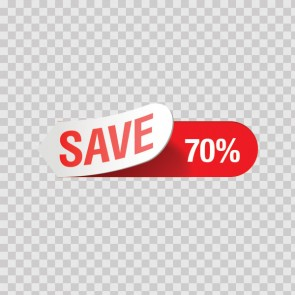 Sales Sign Save 70% 08211