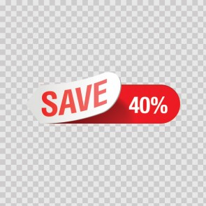 Sales Sign Save 40% 08214