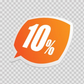 Sales Sign 10% 08217