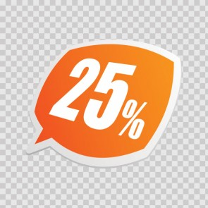 Sales Sign 25% 08219