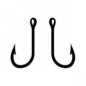 Pair Of Fishing Hooks 08232
