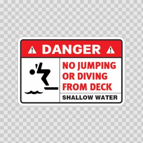 No Jumping Or Diving From Deck 08235