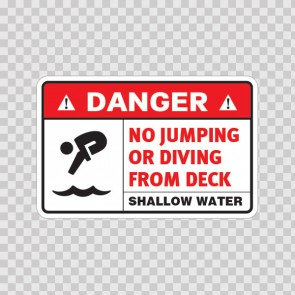 No Jumping Or Diving From Deck 08236