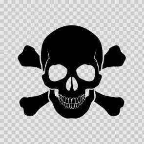 Crossbone Skull 08560
