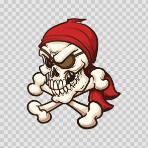 Pirate Crossbone Skull 08633