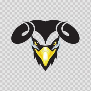 Eagle Head With Horns 08730