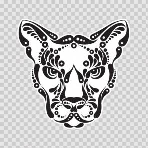 Tribal Puma Head 08734