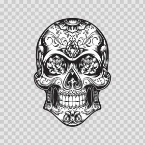 Decal Sticker Skull Design Logo Car Window Wall  08763