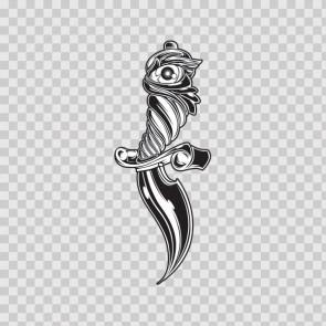 Tribal Tattoo Style Knife 08767
