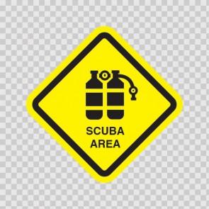 Scuba Area Sign 09009