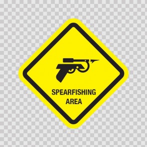 Spearfishing Area Sign 09012