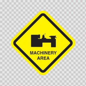 Machinery Area Sign 09035