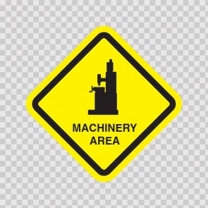 Machinery Area Sign 09036