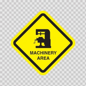 Machinery Area Sign 09037