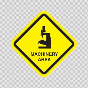 Machinery Area Sign 09038