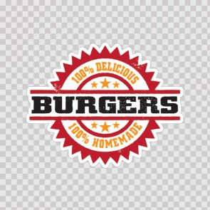 100% Delicious Burgers Homemade 09903