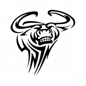 Angry Bull Head Tribal 09973