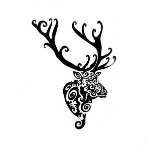 Tribal Deer Head 10764