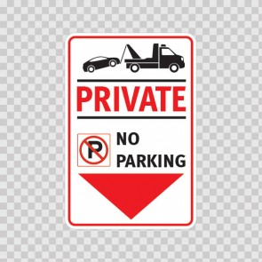 Private No Parking Sign 11241