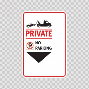Private No Parking Sign 11244