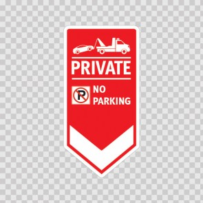 Private No Parking Sign 11245