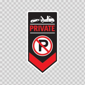 Private No Parking Sign 11247