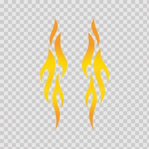 Pair Of Colored Flames 11278