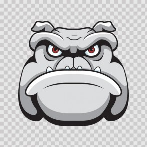 Angry Bulldog Head 11306