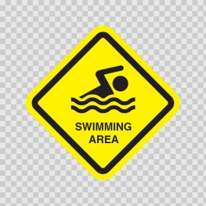 Swimming Area Sign 11419
