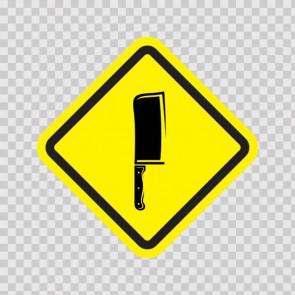 Butcher's Knife Cleaver Sign 11425
