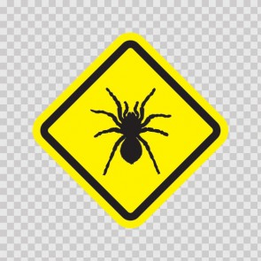 Spider Black Widow Sign 11488