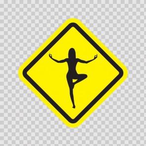 Yoga Pose Sign 11513