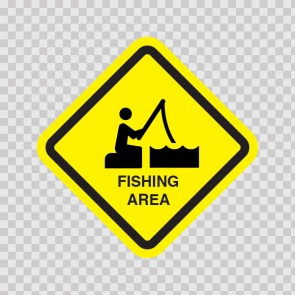 Fishing Area Sign 11536
