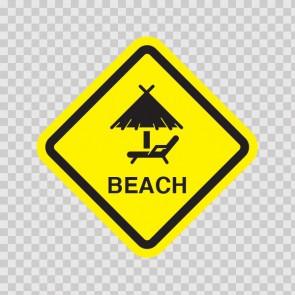 Beach Ahead Sign 11541