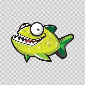 Happy Green Piranha Fish 11680
