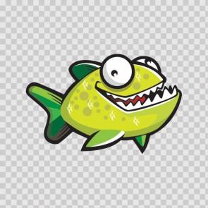 Happy Green Piranha Fish 11681