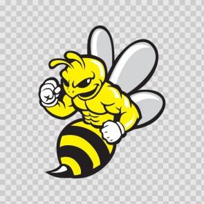 Bee Hornet Wasp Bodybuilder 11752