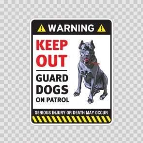 Warning Guard Dogs On Duty Sign 11798