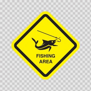 Fishing Area Sign 11841