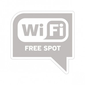 Wifi Free Spot Gray Print On Vinyl 12032