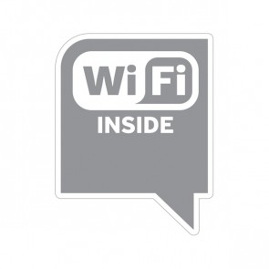 Sign Wifi Inside Gray Print On Vinyl 12049