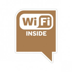 Sign Wifi Inside Earth Tone Print On Vinyl For Coffee Shops 12051