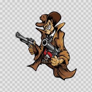 Cowboy With 2 Guns 12081