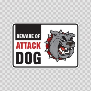 Beware Of Attack Dog Bulldog Sign 12100