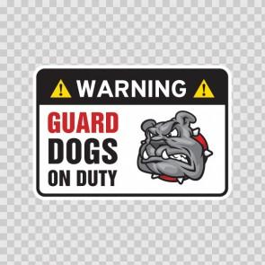 Warning Guard Dog In Duty Bulldog Sign 12102