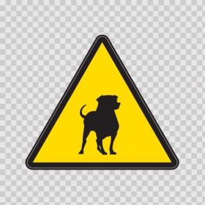 Warning Guard Dogs Rodvailer Sign 12106