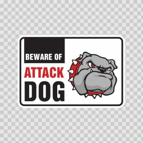 Beware Of Attack Dog Bulldog 12108