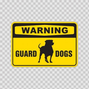 Warning Guard Dogs Sign 12114