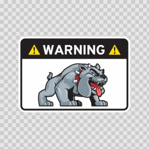 Warning Guard Bulldog Sign 12145